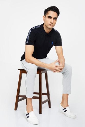 U.S. POLO ASSN Solid Regular Fit Polo T-shirt