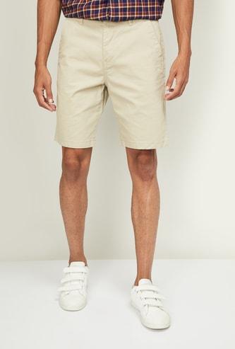 FAME FOREVER Men Solid Regular Fit Casual Shorts