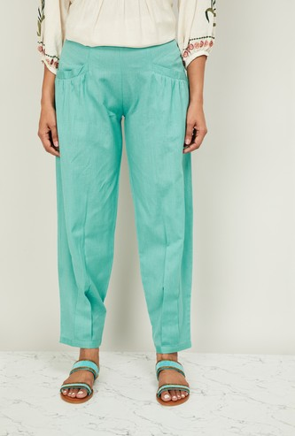 DE MOZA Women Solid Relaxed Fit Pants