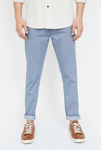 U.S. POLO ASSN. Textured Slim Fit Casual Trousers