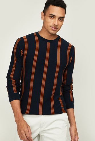 BOSSINI Men Striped Crew-Neck Sweater