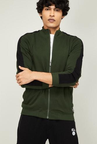 BOSSINI Men Colourblocked Full Sleeves Sweatshirt
