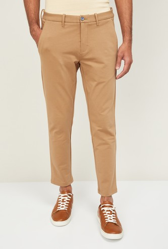 CODE Men Solid Sim Tapered Chinos