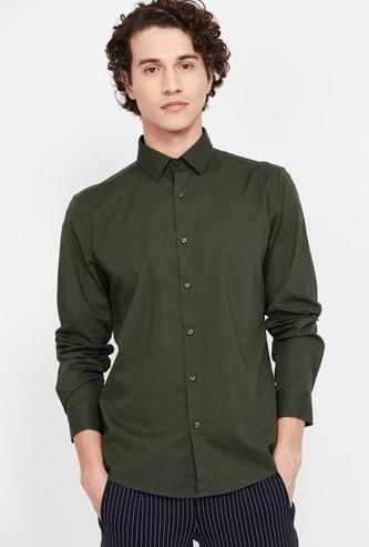 BOSSINI Virobar Men Solid Slim Fit Casual Shirt