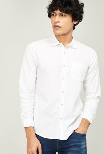 FORCA Men Solid Slim Fit Casual Shirt