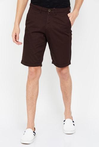 ALLEN SOLLY Men Solid Regular Fit Casual Shorts