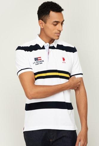 U.S. POLO ASSN. Men Striped Regular Fit Polo T-shirt