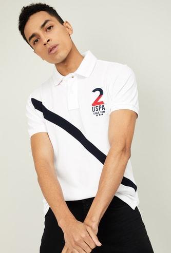 U.S. POLO ASSN. Men Printed Short Sleeves Polo T-shirt