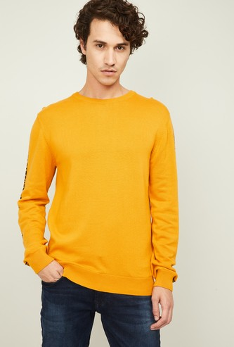 LEVI'S Men Solid Crew Neck Sweater