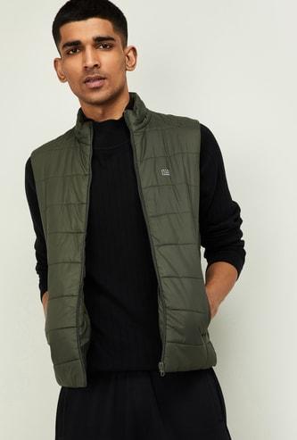 STATUS QUO Men Solid Sleeveless Puffer Jacket