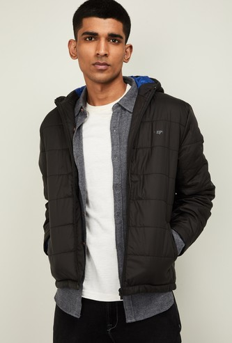 PEPE JEANS Men Solid Hooded Puffer Jacket