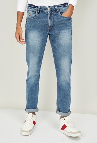 U.S. POLO ASSN. Stonewashed Slim Tapered Jeans