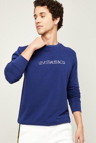 LEVI'S Men Typographic Print Full Sleeves Sweatshirt