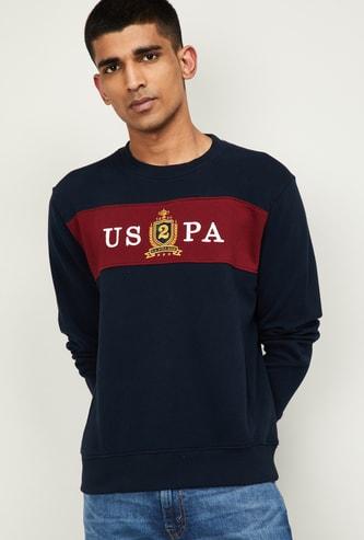 U.S. POLO ASSN. Men Printed Full Sleeves Sweatshirt