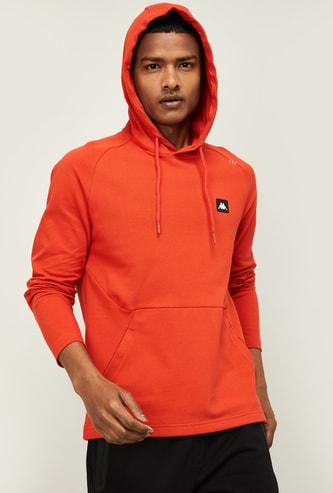 KAPPA Men Solid Hooded Sweatshirt