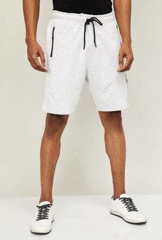 UCLA Men Solid Elasticated Shorts