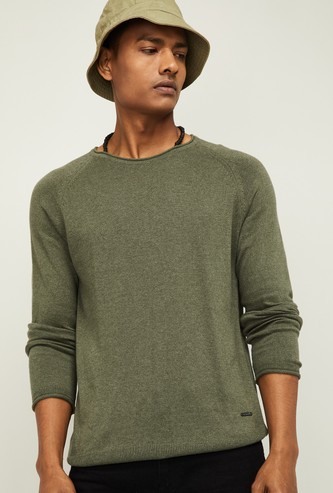 BOSSINI Men Solid Full Sleeves Sweater