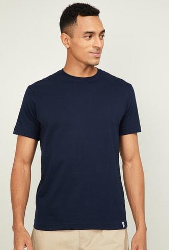 JOCKEY Men Solid Slim Fit Crew Neck Lounge T-shirt