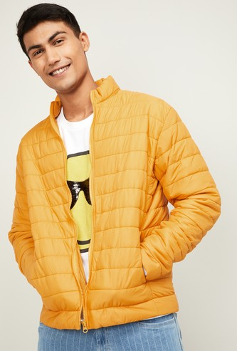 UCLA Men Solid Puffer Jacket in Bag