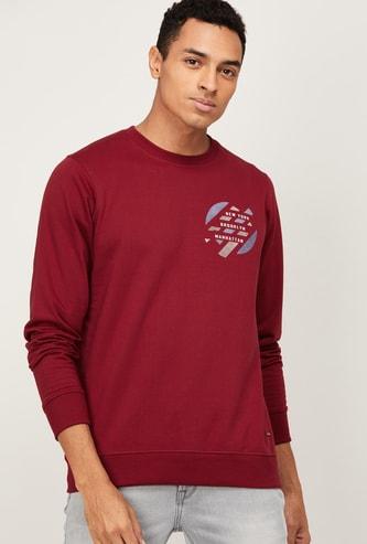 PARX Men Printed Crew Neck Sweatshirt