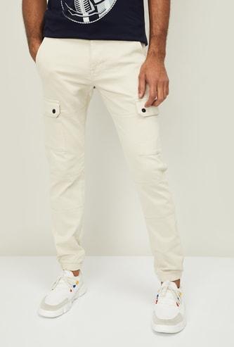 CELIO Men Solid Regular Fit Crago Trousers
