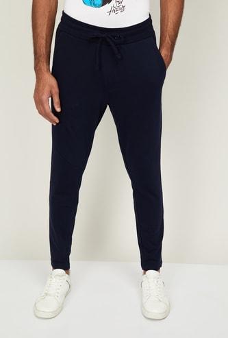 FAME FOREVER Men Solid Slim Fit Track Pants