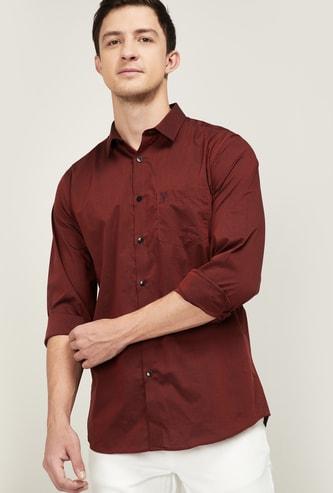 ALLEN SOLLY Men Solid Slim Fit Casual Shirt