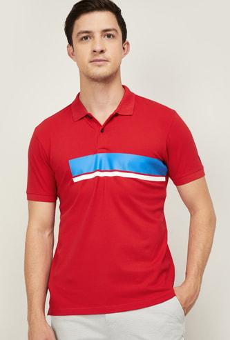 ALLEN SOLLY Colourblocked Regular Fit Polo T-shirt