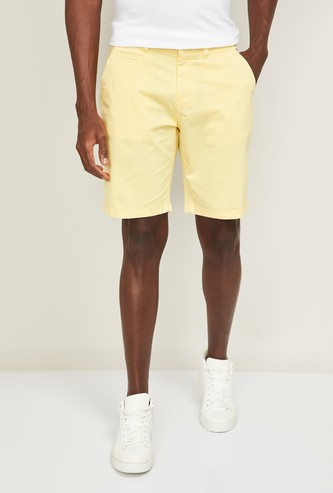 PEPE JEANS Men Solid Slim Fit Woven Shorts