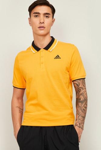 ADIDAS Men Solid Polo T-Shirt