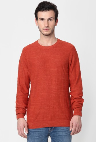 SELECTED Men Solid Crew Neck Pullover