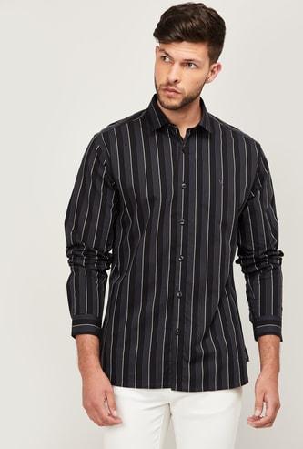 V DOT Men Striped Slim Fit Casual Shirt