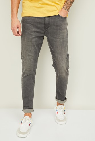 UNITED COLORS OF BENETTON  Men Stonewashed Slim Straight Jeans