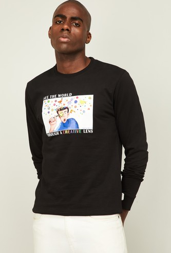 SMILEY WORLD Men Graphic Print Sweatshirt