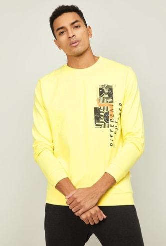 SMILEY WORLD Men Printed Crew Neck Sweatshirt