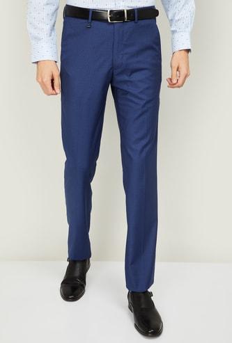 VAN HEUSEN Men Slim Tapered Formal Trousers