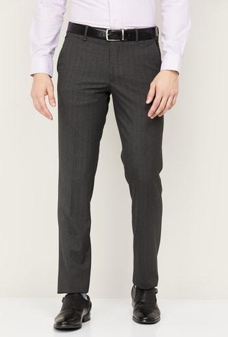 VAN HEUSEN Men Striped Formal Trousers
