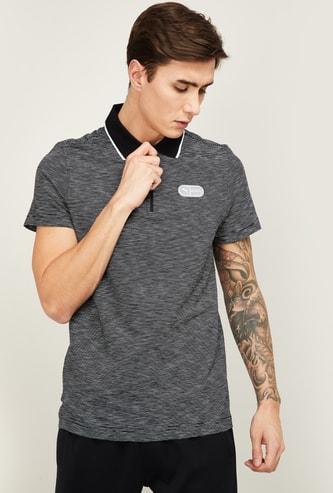 PUMA Men Striped Regular Fit Sports Polo T-shirt
