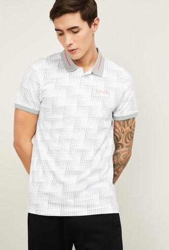 PUMA Men Printed Regular Fit Polo T-shirt