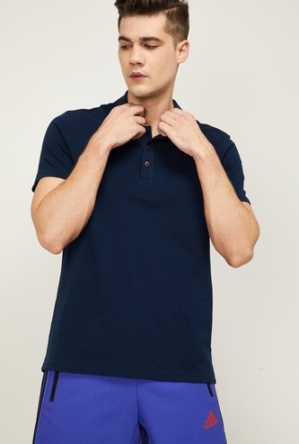 ADIDAS Men Solid Regular Fit Training Polo T-shirt