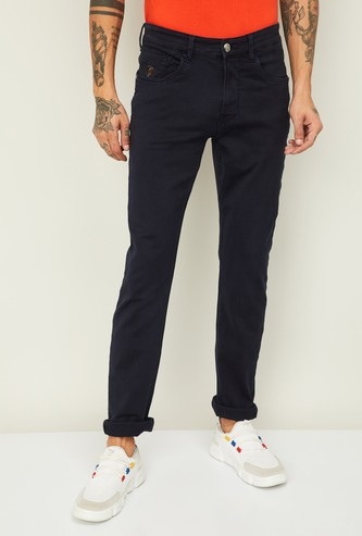 U.S. POLO ASSN. Men Solid Slim Tapered Jeans