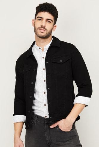 NUMERO UNO Men Solid Full Sleeves Denim Jacket