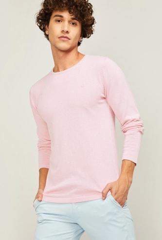 BOSSINI Men Solid Full Sleeves Sweatshirt