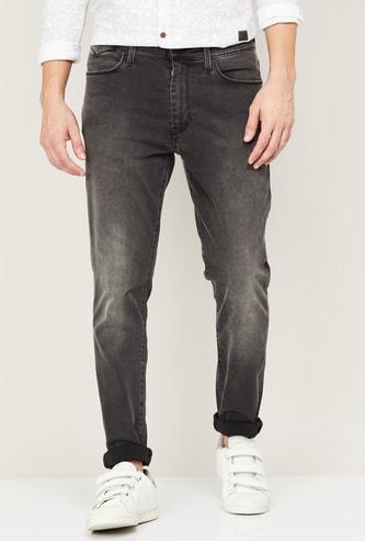 LEVI'S Men Stonewashed Slim Tapered Jeans