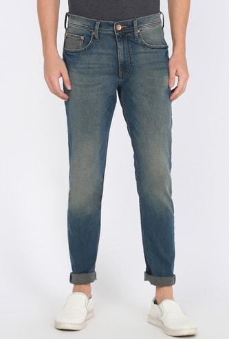 LEE Men Stonewashed Slim Tapered Jeans