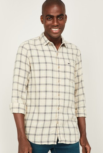 LEE Men Checked Full Sleeves Casual Shirt