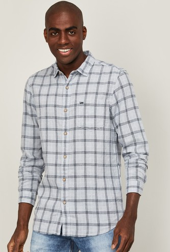 LEE Men Checked Slim Fit Casual Shirt