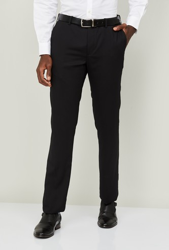ARROW Men Solid Slim Straight Fit Formal Trousers