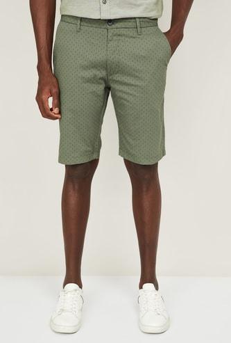 INDIAN TERRAIN Men Printed Woven Casual Shorts