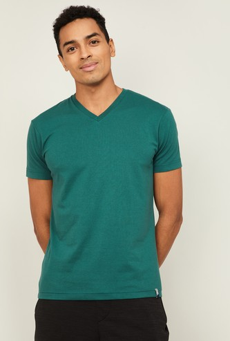 JOCKEY Men Solid V-Neck Lounge T-shirt